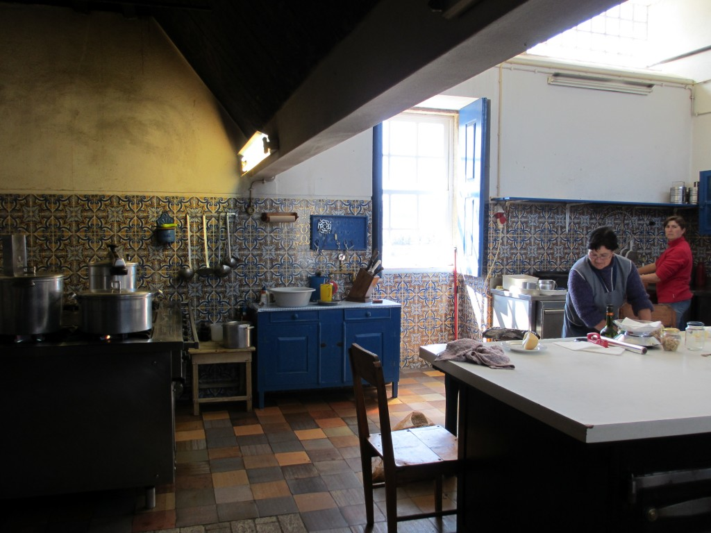The Chef is using ingredients sourced from the estate to cook for workers and visitors to the estate