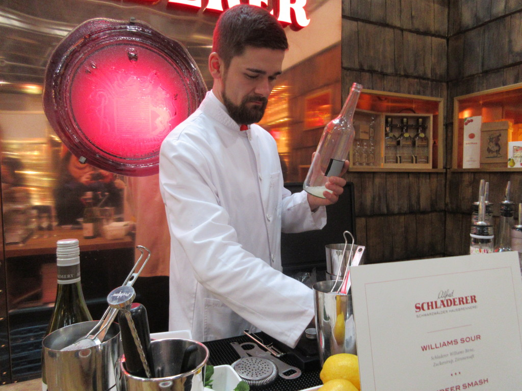 Schladerer Mixologist Hard at Work