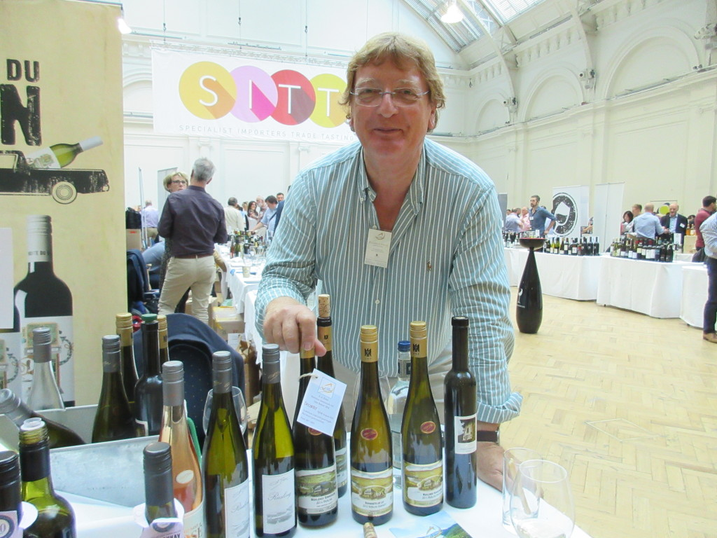 Raimund Prϋm at the Sitt tasting in London